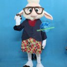 Free Shipping New Zootopia Sheep Dawn Bellwether Rabbit Mascot Costume for Adult