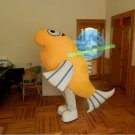 Free Shipping Yellow Fish Mascot Costume for Adult