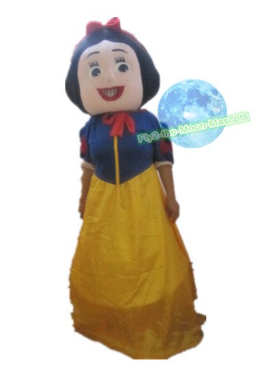 Free Shipping Princesses Snow White Mascot Costume for Halloween and party