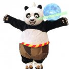 Free Shipping Kongfu Panda Fursuit Mascot Costume for Halloween and party