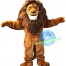 Free Shipping King Lion Fursuit Mascot Costume for Halloween and party