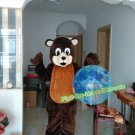 Free Shipping lovely brown bear Animal Mascot Costume for Halloween and party