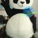 Free Shipping Fluffy  Lovely Panda Animal Mascot Costume for Halloween and party