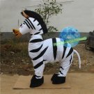 Free Shipping 2 person zebra horse mascot costume for Adult Halloween Birthday party costume