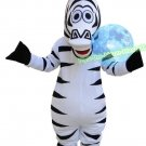 Free Shipping Madagascar Marty Zebra mascot costume for Adult Halloween Birthday party costume
