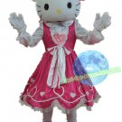 Free Shipping Pink Hello Kitty Mascot Costume for Birthday Party and Events