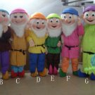 Free Shipping Seven Dwarfs Mascot Costume for Birthday Party and Events