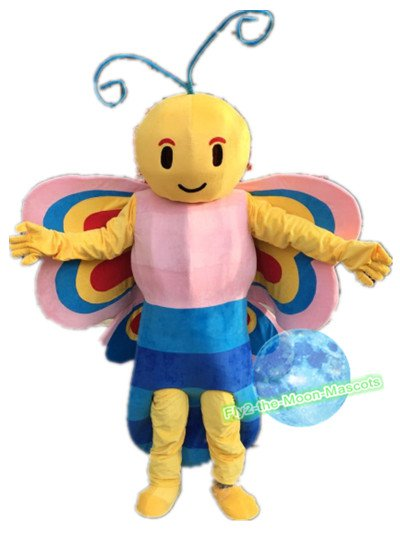 Free Shipping Bee Btterfly Mascot Costume for Birthday Party and Events
