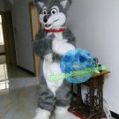 Free Shipping grey husky dog fursuit Mascot Costume for Birthday Party Halloween and Events