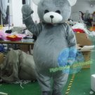 Free Shipping Grey Bear mascot costume  for Birthday Party and Wedding Party