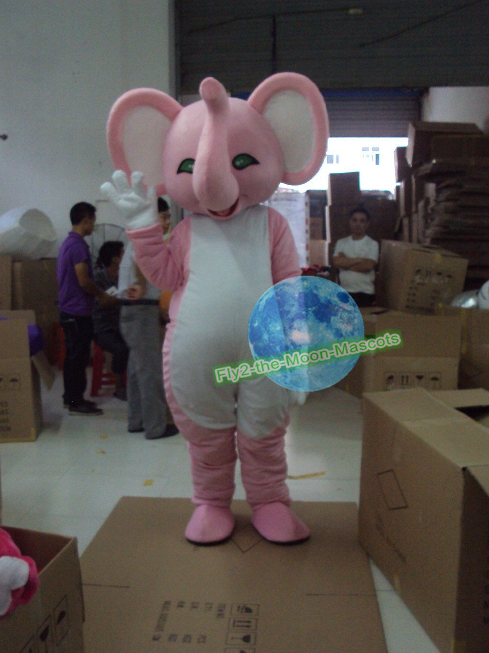 Free Shipping Pink Elephant mascot costume  for Birthday Party and Wedding Party