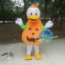 Free Shipping Halloween Pumpkin Duck mascot costume  for Birthday Party and Wedding Party