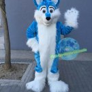 Free Shipping Fursuit Blue Husky Dog mascot costume  for Birthday Party and Wedding Party