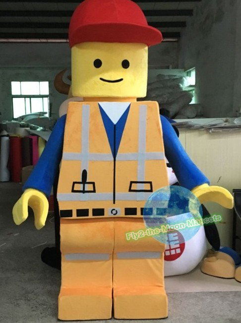Free Shipping Lego Emmet mascot costume for Birthday Party and Wedding Halloween Christmas