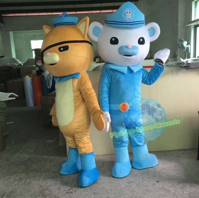 Free Shipping Octonauts captain Barnacles kwazii mascot costume for Birthday Halloween Christmas