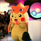 Free Shipping Pokemon Pikachu mascot costume Halloween Christmas Event