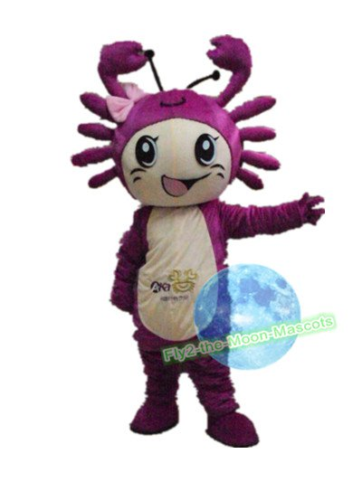 Free Shipping Purple Crab Mascot Costume for Birthday Wedding Party Halloween Wedding Events