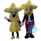 Free Shipping Yellow Star Mascot Costume for Birthday Wedding Party Halloween Wedding Events