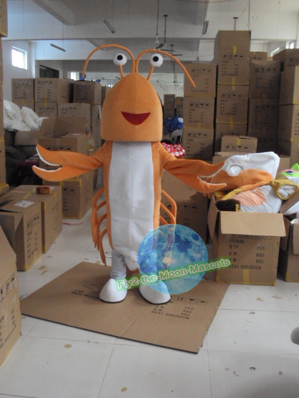 Free Shipping yellow lobster Mascot mascot costume Halloween Christmas Event