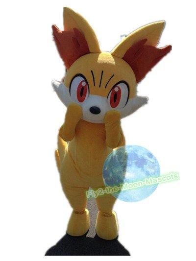 Free Shipping Pokemon Fennekin mascot costume Halloween Christmas Event