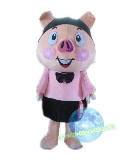 Free Shipping Pink Pig mascot costume Halloween Christmas Event