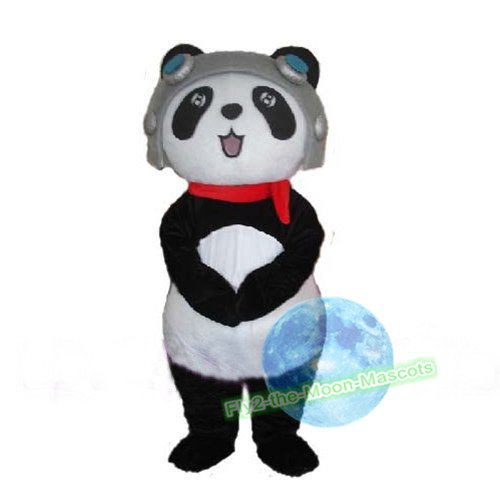 Free Shipping Pilote Panda Mascot Costume for Birthday Wedding Party Halloween Wedding Events