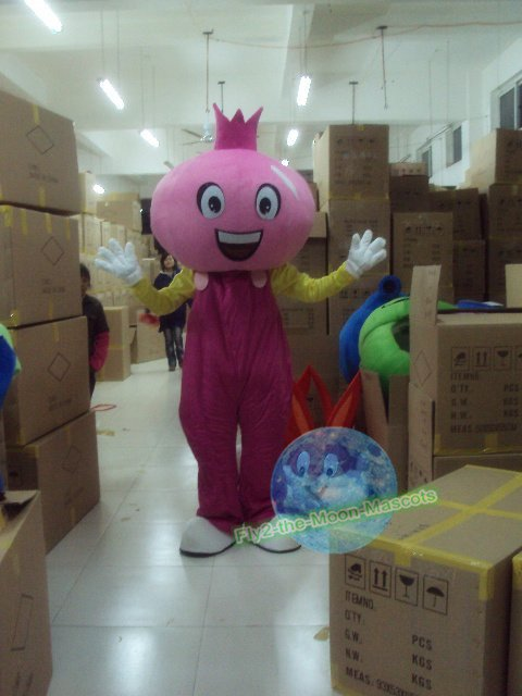 Free Shipping Pomegranate mascot costume Halloween Christmas Event