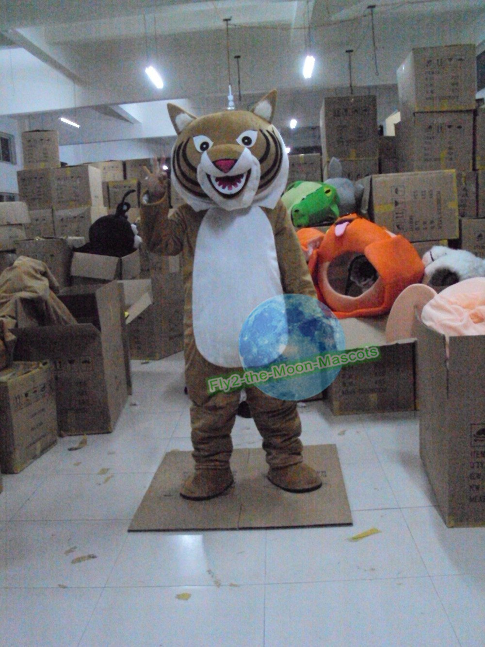 Free Shipping Tiger Mascot Costume for Halloween and party