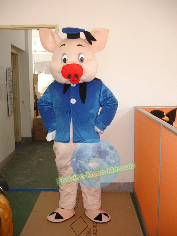 Free Shipping sailor pig mascot costume for Adult Halloween Birthday party costume