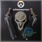 Amine Overwatch Reaper Mask Weapon Pistol Cosplay Props Halloween