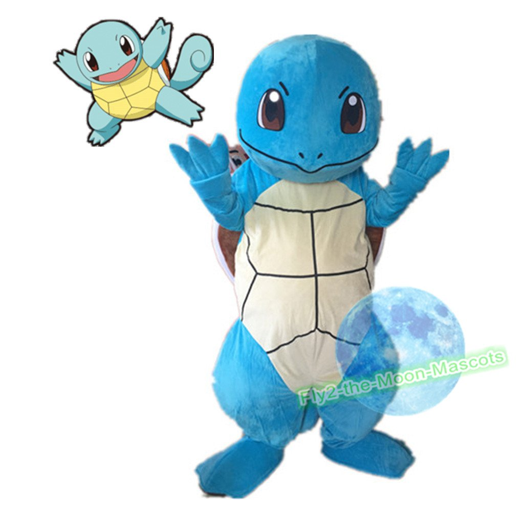 Free Shipping Turtle Squirtle Pokemon mascot costume Halloween Christmas Event