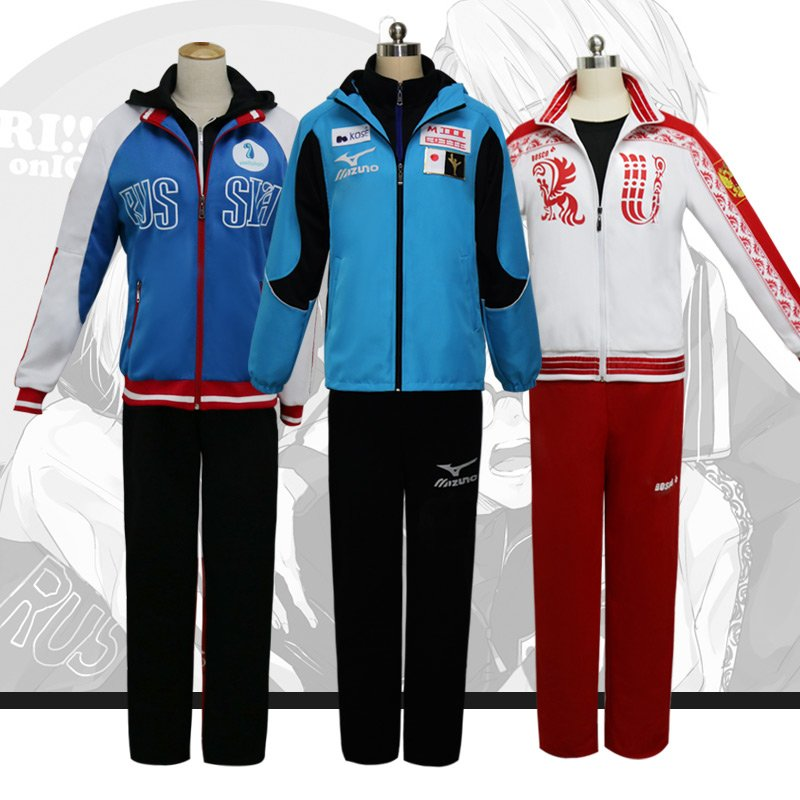 Free Shipping Yuri!!! On Ice  Victor Nikiforov Katsuki Yuuri Plisetsky Yuri cosplay costume