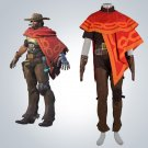 Free Shipping Overwatch Mccree cosplay costume Halloween Christmas Event