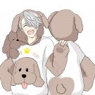 Free Shipping YURI on ICE Victor Makkachin Poodle Cosplay Hoodie Coat Top