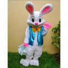 Free Shipping Easter Bunny Mascot Costume Adult Character Costume Short Fur