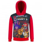 Free Shipping Five Nights at Freddy's children Red hoodie pullover birthday present gift