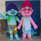 Free Shipping Trolls Poppy Troll Mascot Costume for Birthday Party Halloween and Events