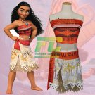 Free Shipping Polynesia princess Moana Cosplay Costume Dress halloween