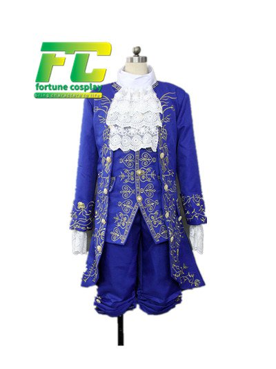 Free Shipping 2017 movie Beauty and Beast Prince Adam Cosplay costume 2