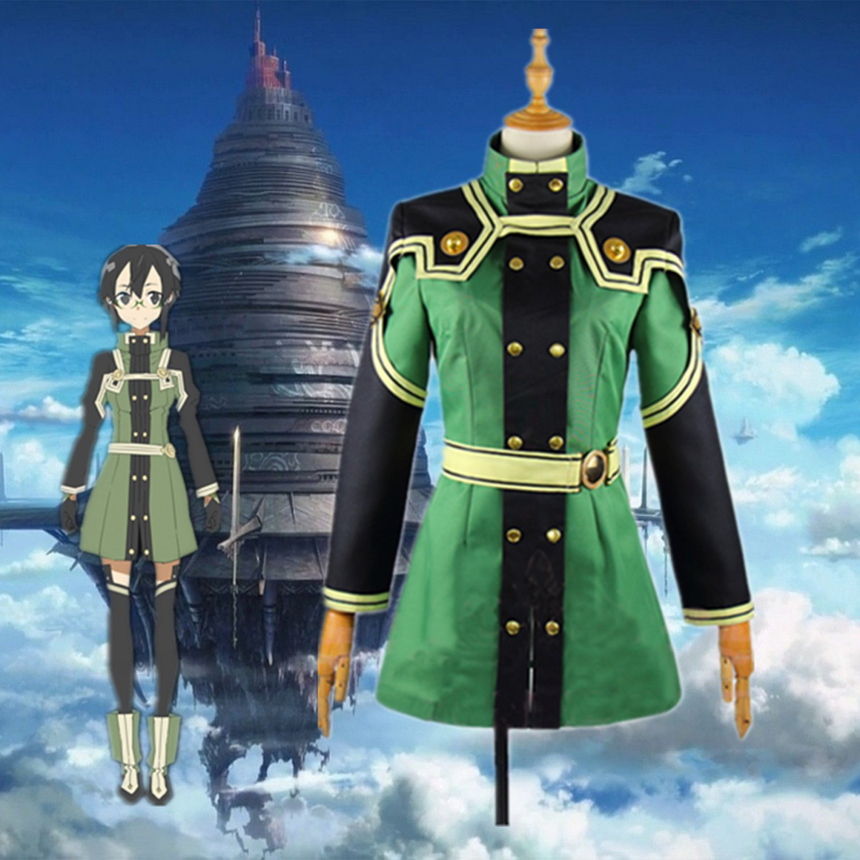 Free Shipping Sword Art Online SAO The Movie: Ordinal Scale Asada Shino Cosplay Costume