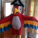 Free Shipping Pirate Parrot Mascot Costume for Halloween and party