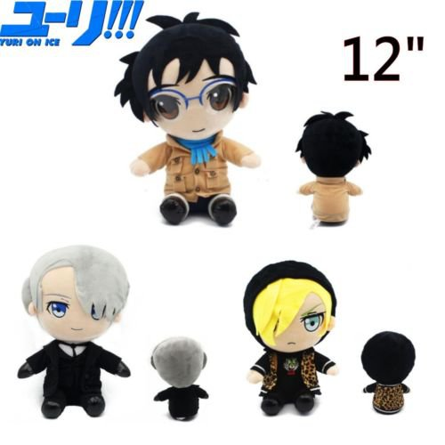 Free Shipping Yuri on Ice Victor Nikiforov Katsuki Yuri Plisetsky Yuri Plush Toy