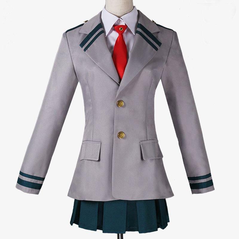 Free Shipping My Hero Academia OCHACO URARAKA Asui Tsuyu School Uniform Cosplay Costume