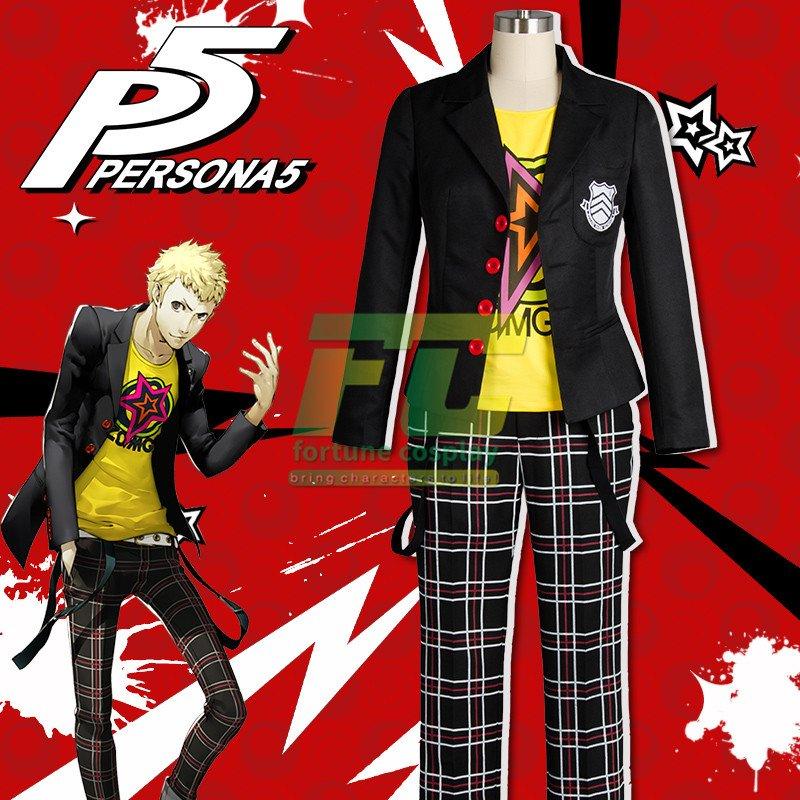 Free Shipping Persona 5 Ryuji Sakamoto Cosplay Costume High School Uniform