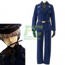 Free Shipping APH Axis powers Hetalia Prussia Cosplay Costume Blue Navy Uniform