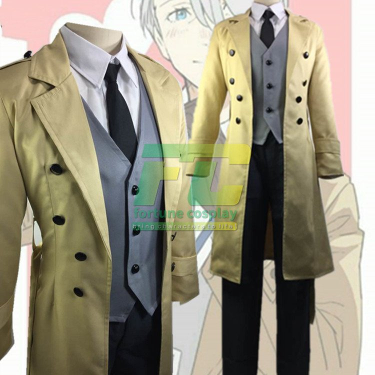 Free Shipping Yuri on Ice Victor Nikiforov Coath Cosplay Costume