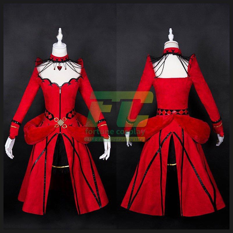 Free Shipping Tohsaka Rin Game Anime Fate Grand Order cosplay costume
