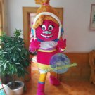Free Shipping DJ Trolls Mascot Costume for Birthday Party Halloween and Events