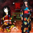 Presale Free Shipping Hell Girl Season 3 Enma Ai Cosplay Costume Floral Kimono