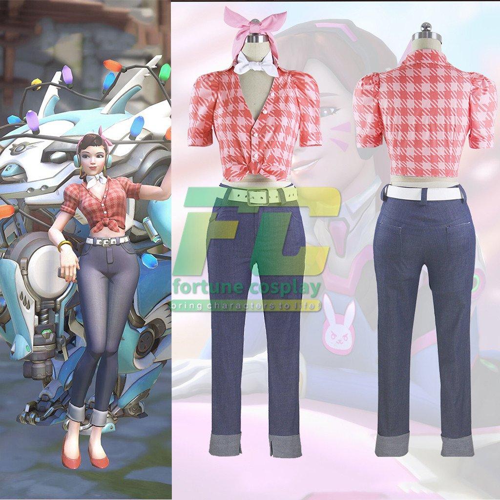 Free Shipping Overwatch D.VA anniversary skin DVA cosplay costume